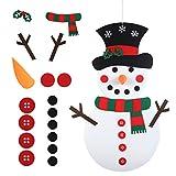 LANMOK Muñeco de Nieve de Fieltro DIY, Felt Snowman Navidad...
