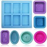 FineGood - Moldes de silicona para hacer jabón (13...
