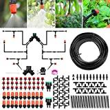 Sistema de riego Jardín, Kit de riego por goteo micro Riego...