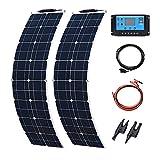 YUANFENGPOWER Kit de panel solar de 100 W, 12 V, 2 módulos...