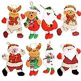 MEJOSER 8Piezas Adornos árbol Navidad Colgantes Muñecos...