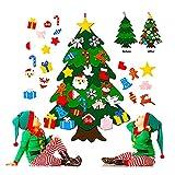 Foho 3D Fieltro Árbol de Navidad, 3.3ft 25 Piezas Arbol de...