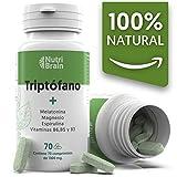 Natural Triptófano con Melatonina y Espirulina para mejorar...
