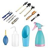 Mini herramientas de mano de jardinería(14 Pcs),Las...