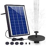 AISITIN Solar Fuente Bomba 6.5W Fuente de Jardín Solar...
