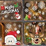 Flysee Pegatinas Navidad para Ventanas, adornos navideños,...
