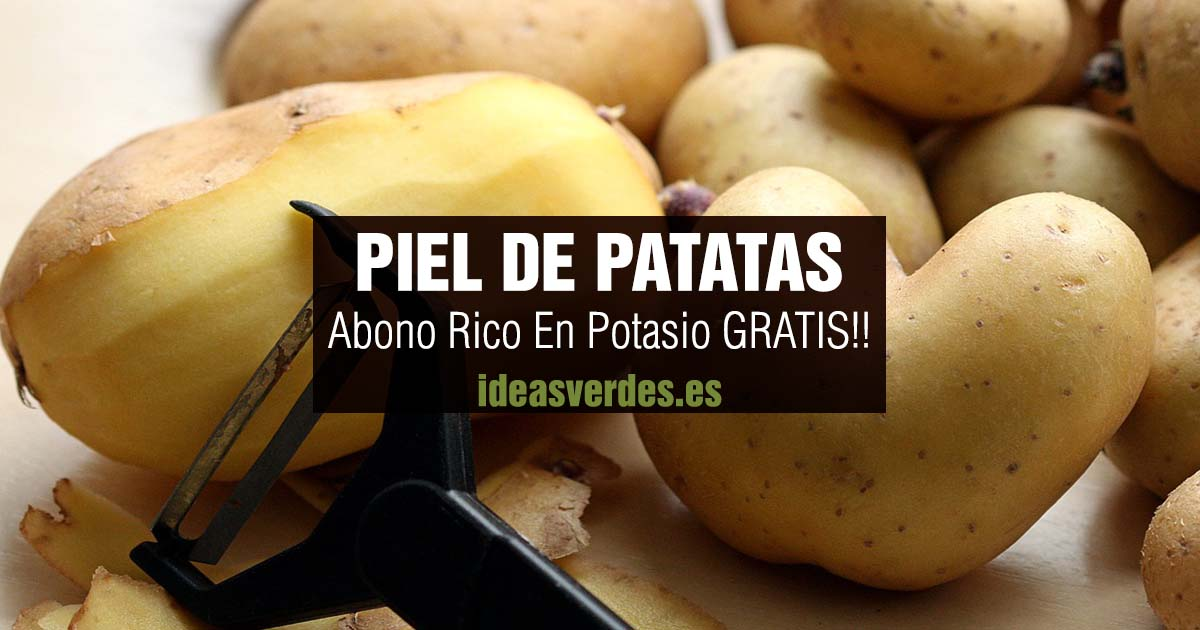 piel de patatas abono potasio gratis
