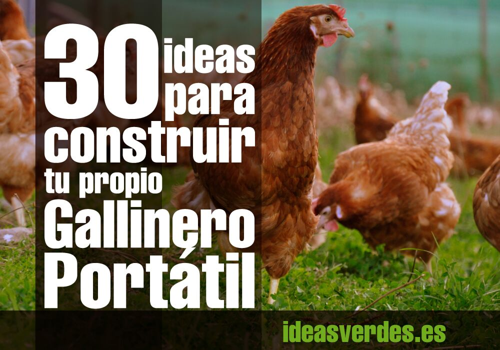 30 Ideas para construir un gallinero portatil