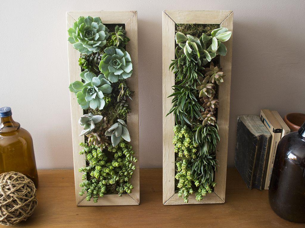 30 ideas geniales y originales para un jard n vertical de - Jardin vertical interior ...