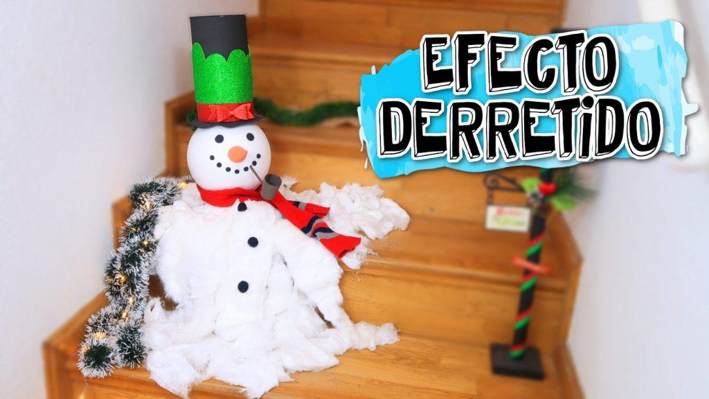 Como hacer un mu eco de nieve derretido - Como hacer un muneco ...