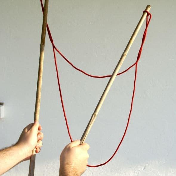 palos para hacer pompas