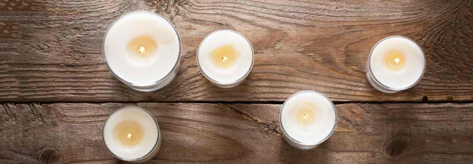 velas aceite usado