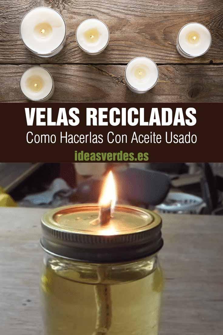 velas recicladas con aceite