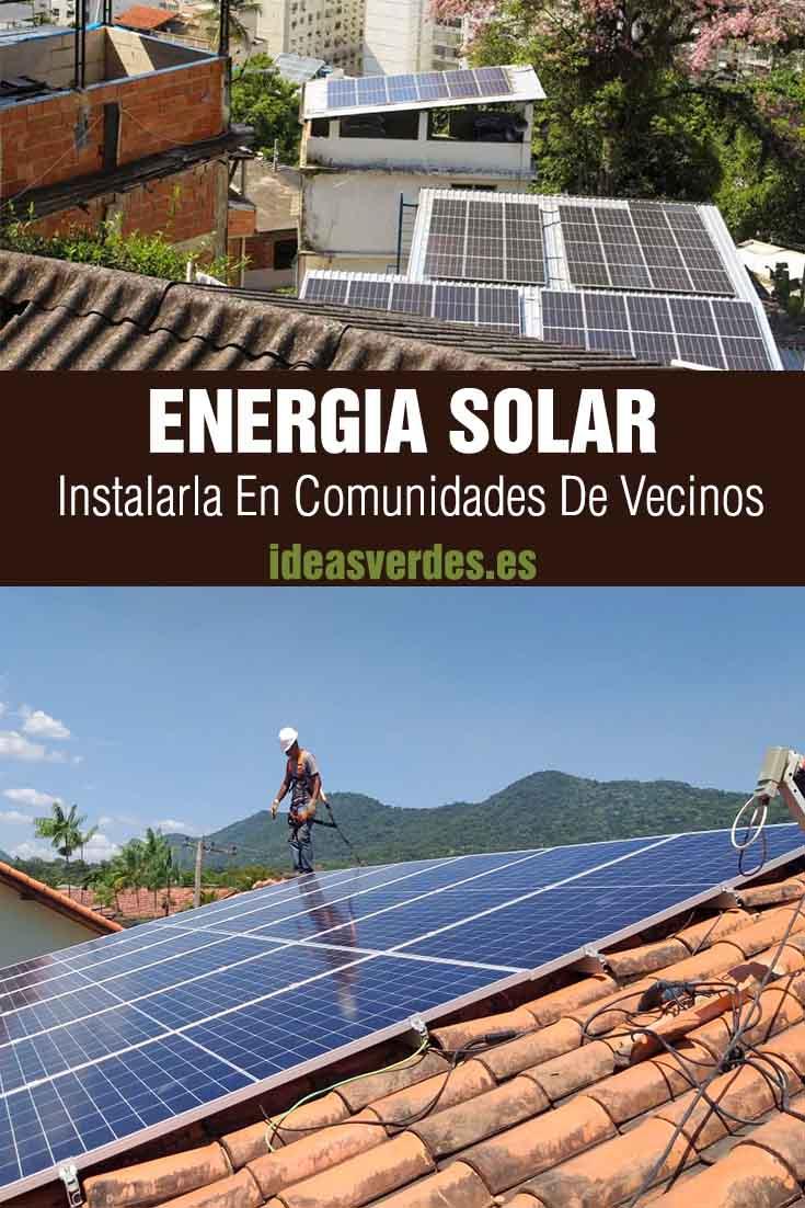 energia solar en comunidades de vecinos
