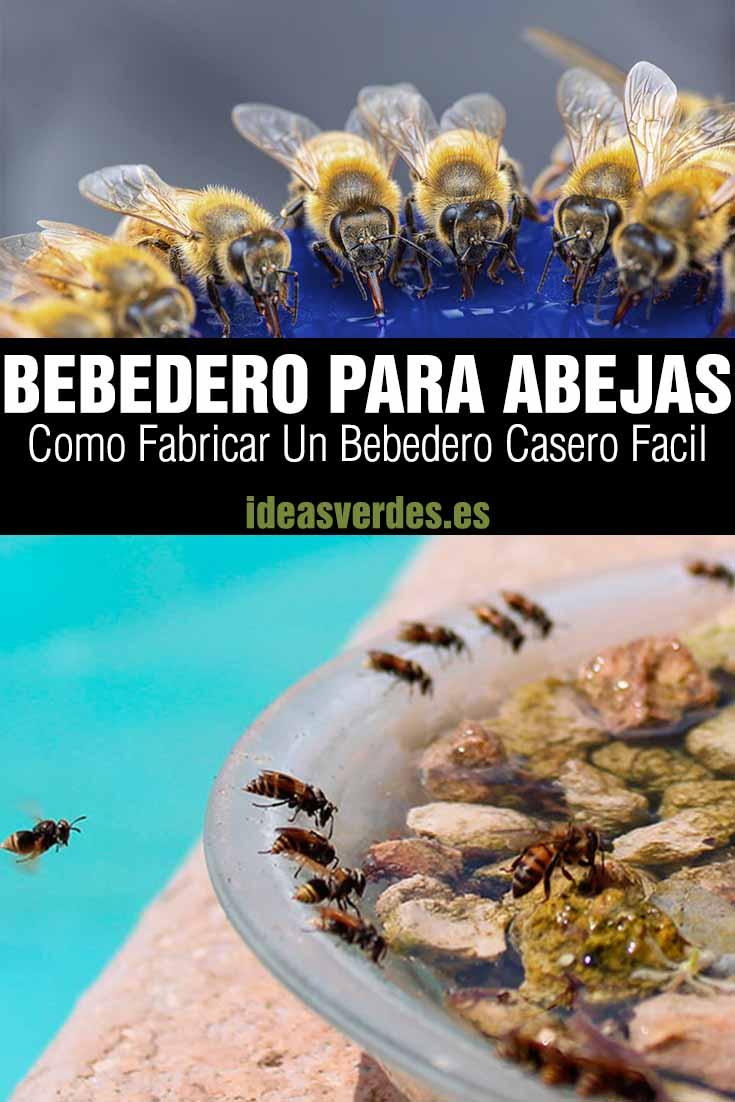 bebedero para abejas jardin