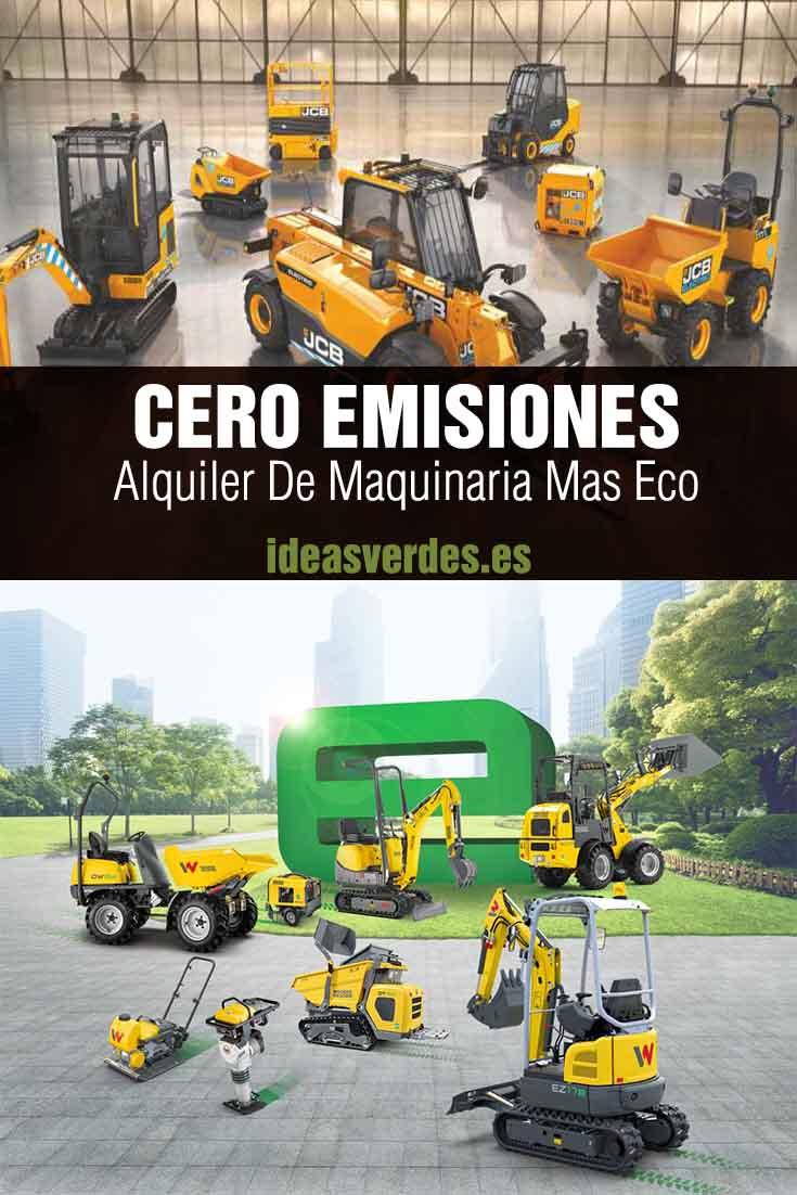 cero emisiones en maquinaria