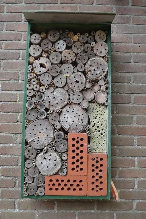 hotel de insectos casero pequeño