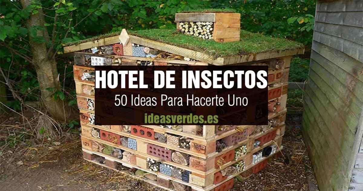 ideas para hacer un hotel de insectos