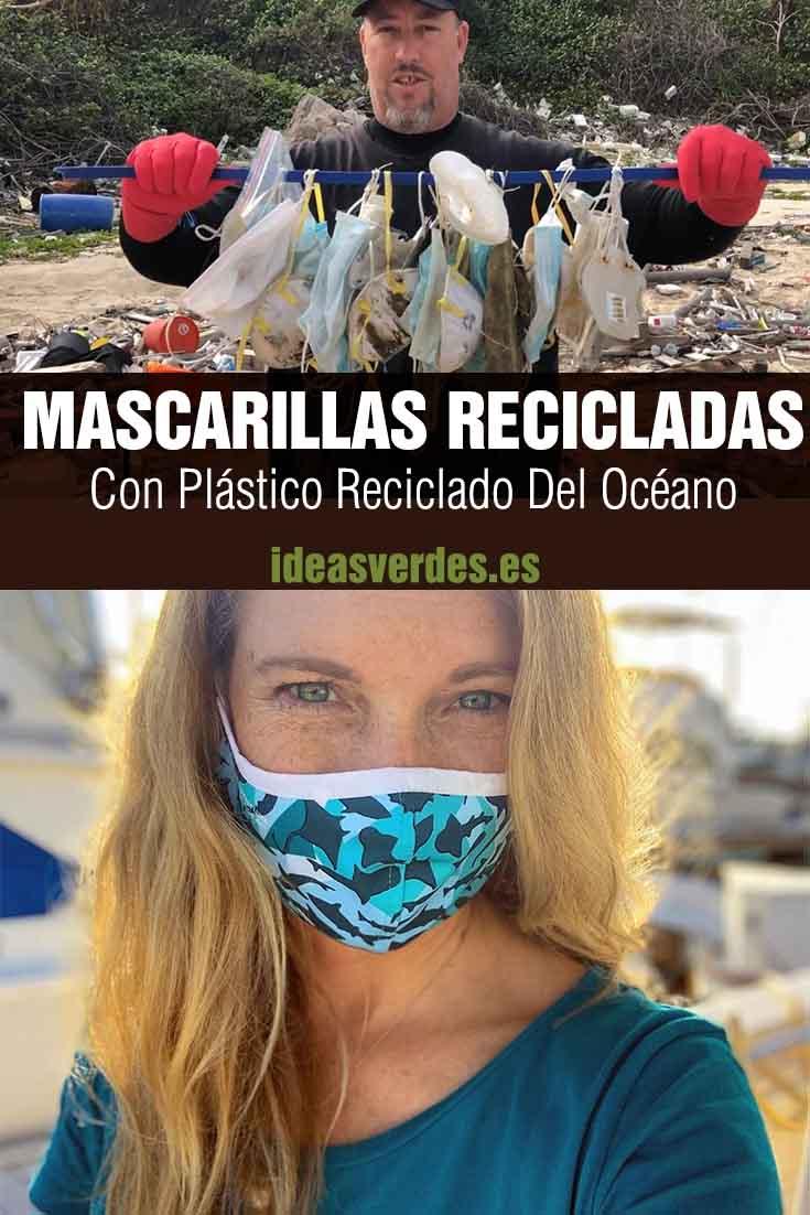 mascarillas recicladas con plástico del océano