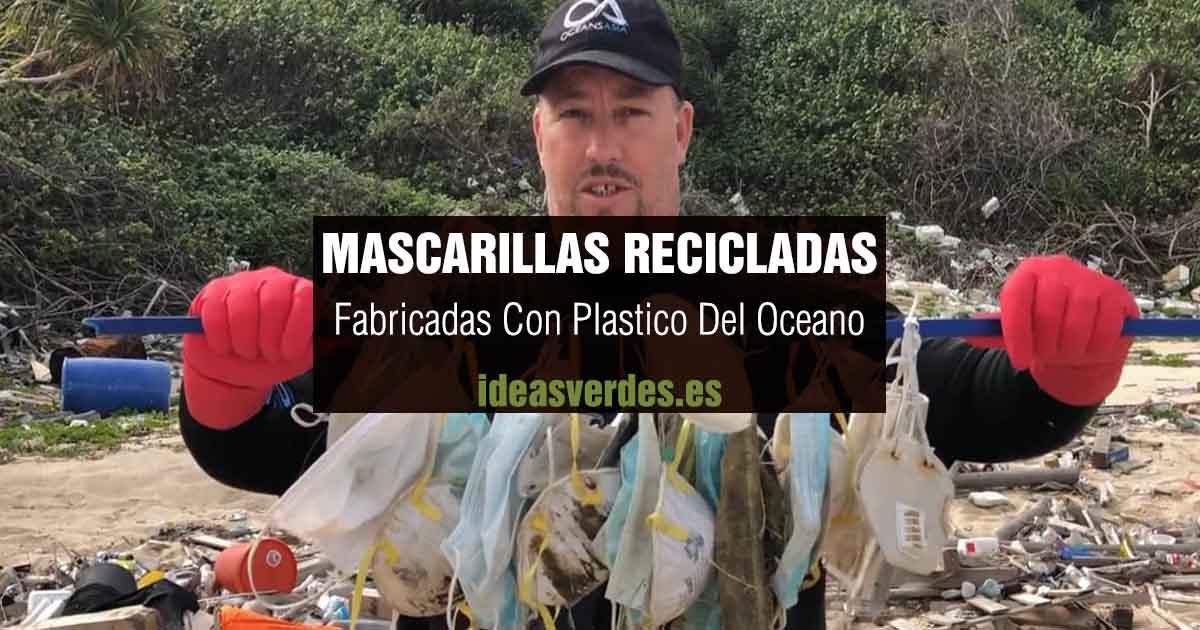 mascarillas recicladas con plastico