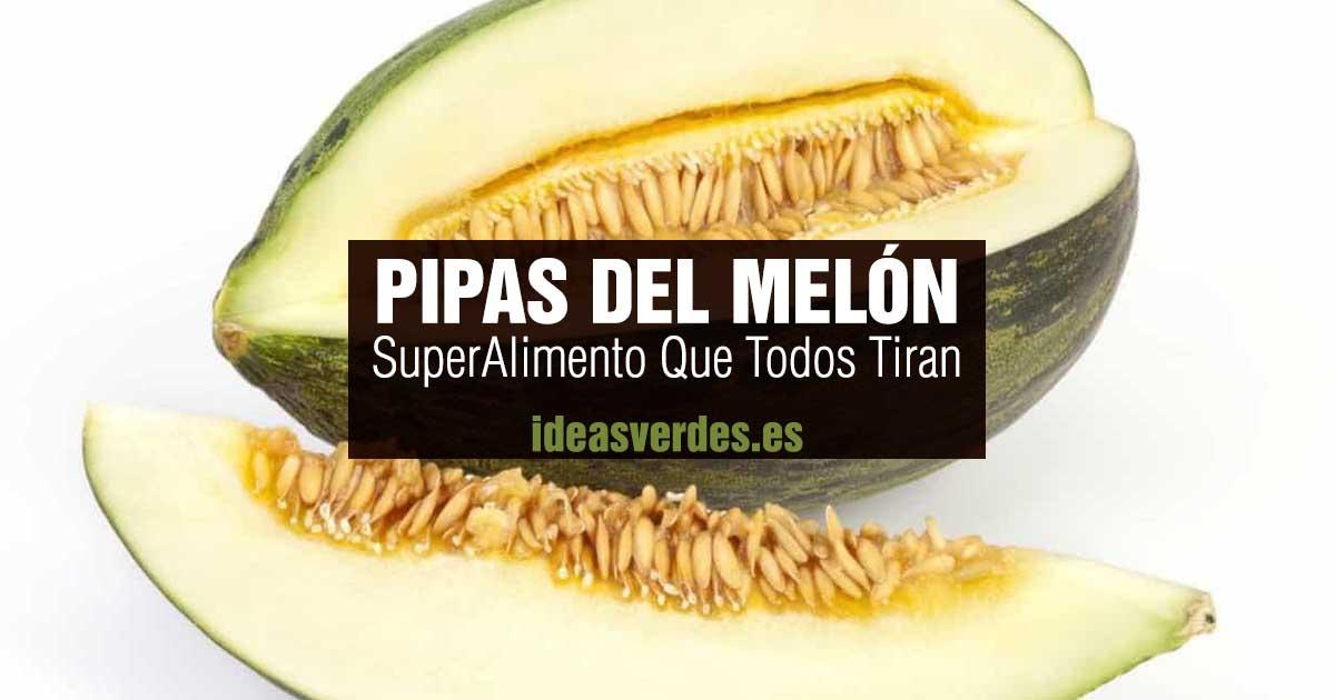 comer pipas melon semilla