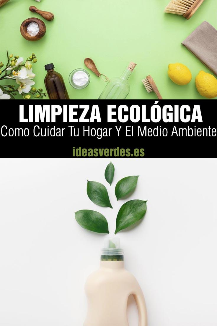 cuidado del medio ambiente con productos de limpieza
