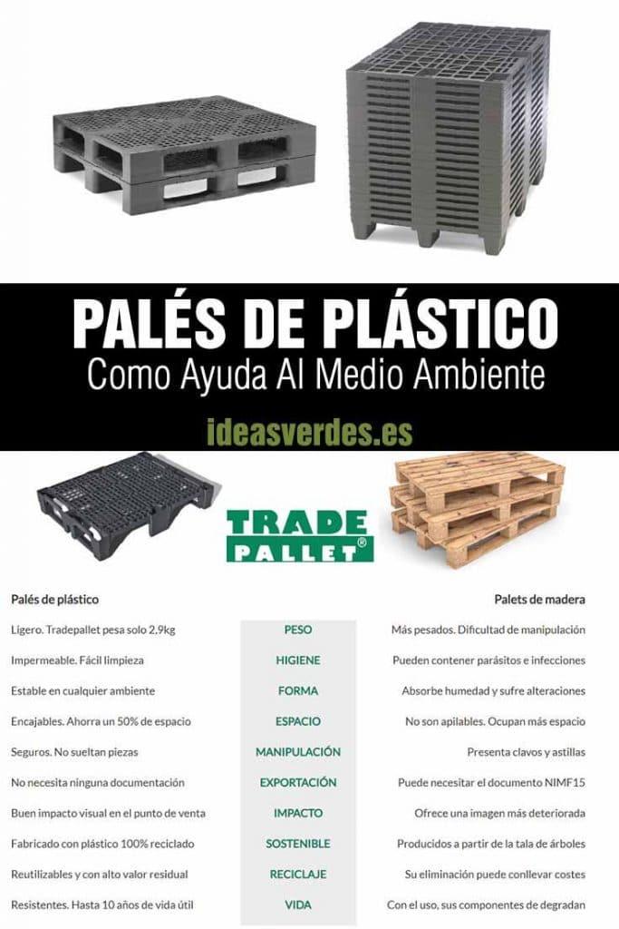 paléts de plástico versus madera