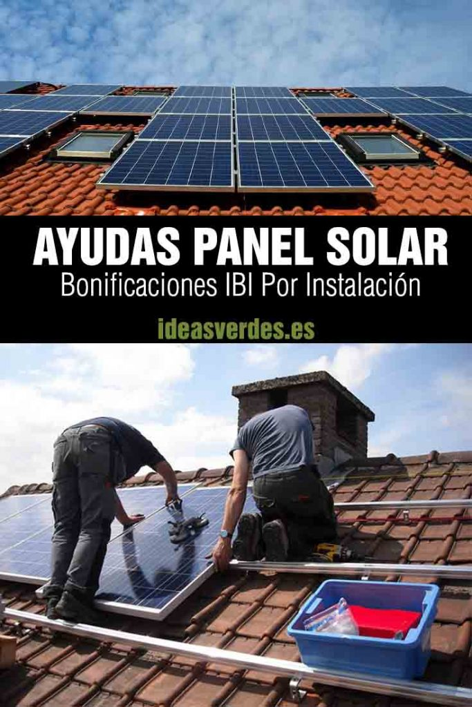 Bonificación IBI instalación Fotovoltaica