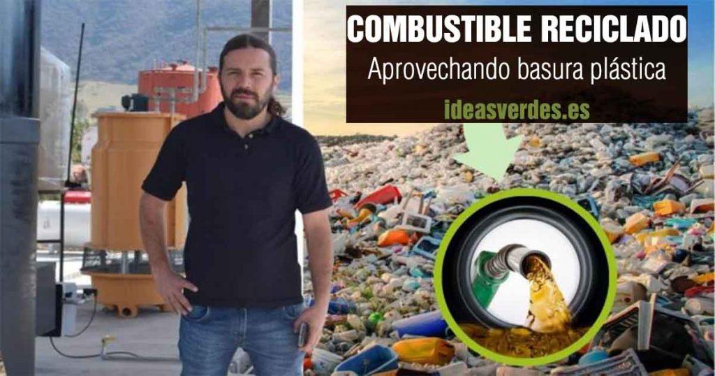 Combustible con basura plástico