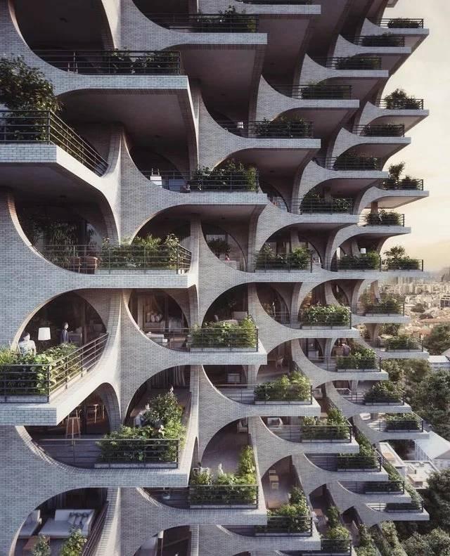Edicifio Casacada De Terrazas Y Arcos Tel Aviv