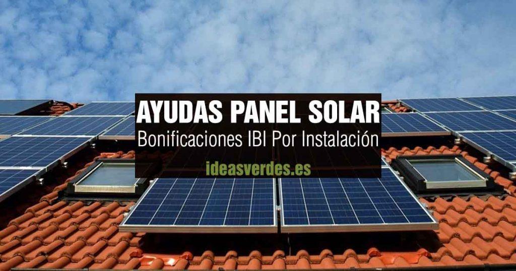 bonificaciones IBI Panel Solar