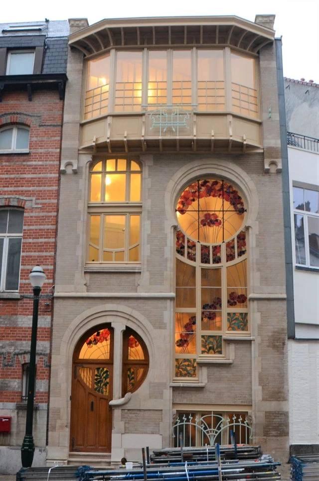 casa estilo nouveau bruselas obra arquitectonica