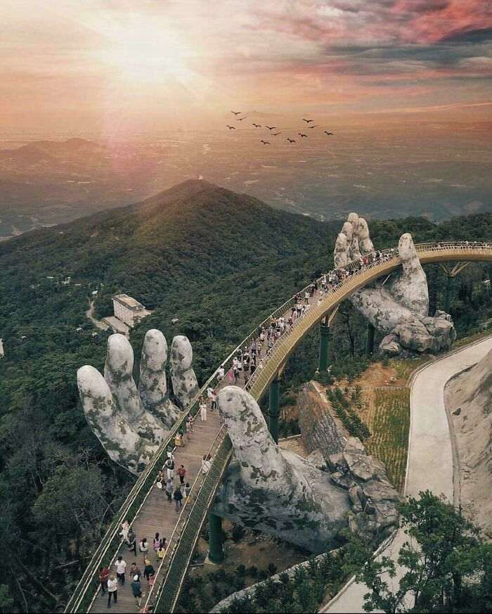 puente dorado de da nang