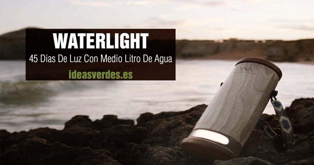 waterlight luz con agua salada