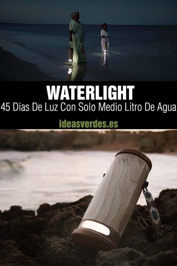 waterlight luz o lampara con agua