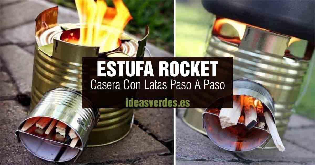 como hacer estufa rocket casera