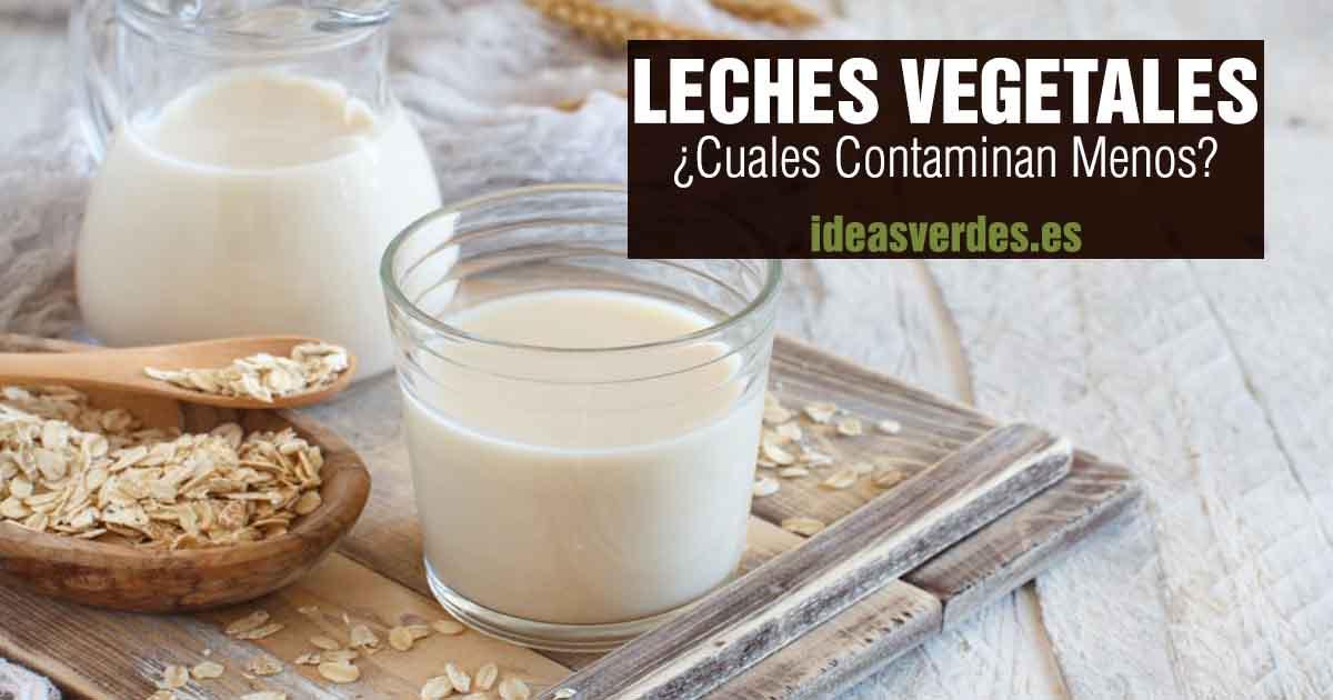 que leche vegetal contamina menos